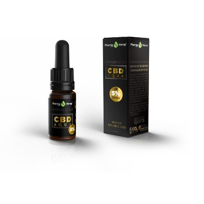 CBD hydrosoluble 5/10/20% Aqua Drops Premium Black (Pharmahemp)
