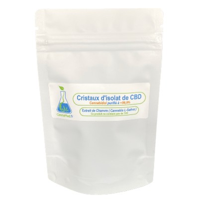 Cristaux de CBD (Cannabidiol) 5000 mg (+99,9%)