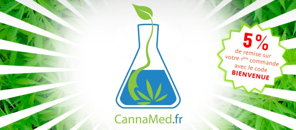 code promo BIENVENUE 5% remise CannaMed.fr