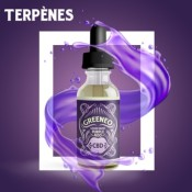 E-liquide au CBD 50 mg et aux terpènes de cannabis Grand Daddy Purple (Greeneo)